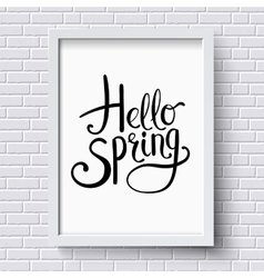 Hello Spring greeting card design vector image