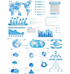INFOGRAPHIC WEB COLLECTION vector image vector image