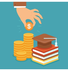 invest in education vector image