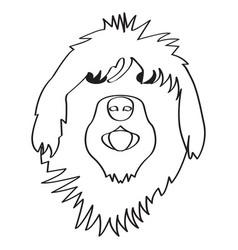 Isolated english sheepdog avatar vector