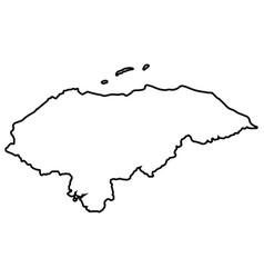 Isolated map of honduras vector