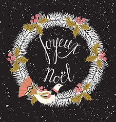 Joyeux Noel card vector image