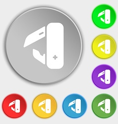 Knife picnic icon sign symbol on eight flat vector