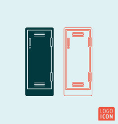 locker icon isolated vector image vector image