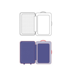 opening suitcase for vacation vector image