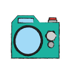 Photographic camera isolated vector