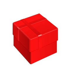 Red blank package box vector