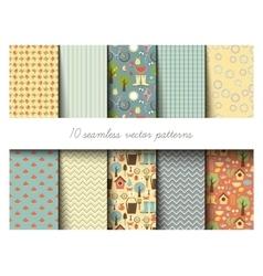 Seamless garden pattern vector image vector image
