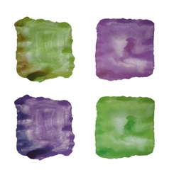 Set of abstract watercolor backgrounds isolated vector image