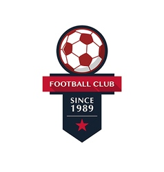 Soccer Football Badge vector image vector image