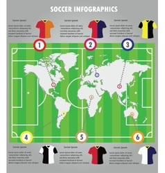 Soccer infographics elements infographic vector image