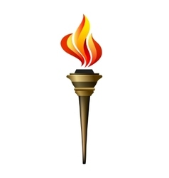 torch icon vector image vector image