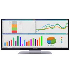 Ultra wide cinema hd monitor vector