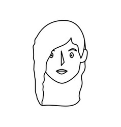 young woman head avatar vector image vector image