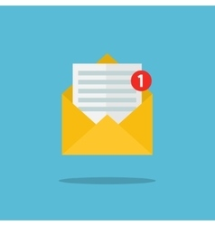 Concept of email notification icon vector
