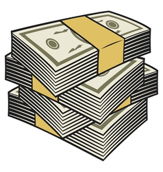 Big stack of money vector