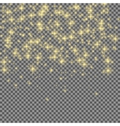 Neon glitter particles on transparent background vector