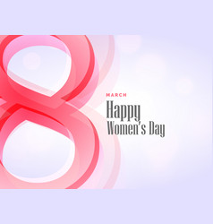 Beautiful womans day theme design background vector