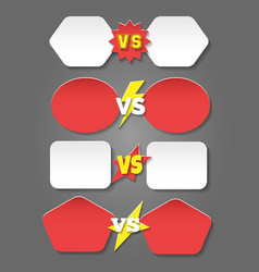 Battle versus labels in flat style vector