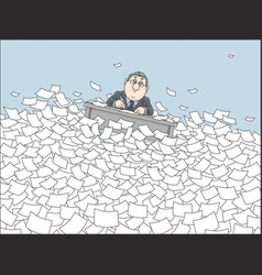 sea of paper vector image