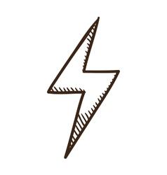 Lightning danger symbol vector image