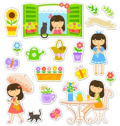 gardening collaction vector image