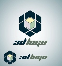 3d logo 2 vector image