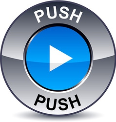 Push round button vector