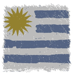 Flag of uruguay handmade square shape vector