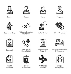 Medical and health care icons set 2 - services vector