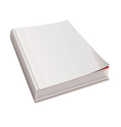 Blank white paper back book with shadow spine vector
