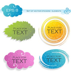 Four elements stickers vector