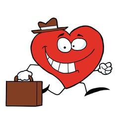 Heart Businessman vector image