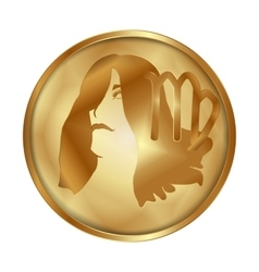 Virgo gold medallion drive vector