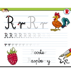 Learn to write letter r vector