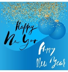 Happy new year handeritten lettering design gold vector