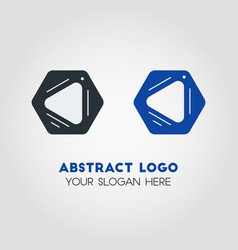 abstract business logo template in black and blue vector image vector image