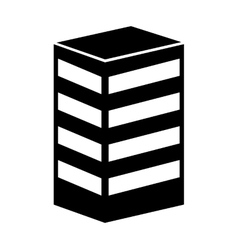 building company isolated icon vector image