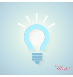 Business concept with bulb vector