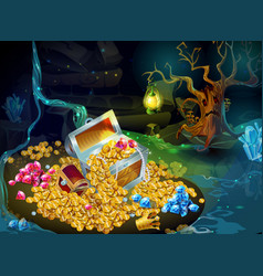 cartoon game treasure and trophies background vector image vector image