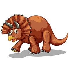 Dinosaur with horns on white vector image vector image