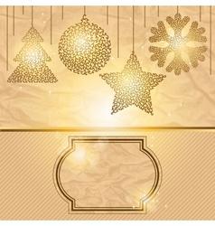 Elegant Christmas background vector image vector image