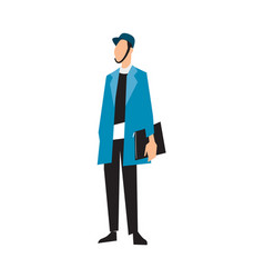 Elegant fashion man in suit and jacket vector