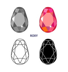 fancy gem cut vector image vector image