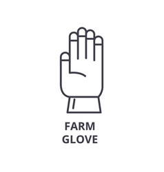 farm glove line icon outline sign linear symbol vector image vector image