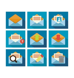 Flat icon design mail vector