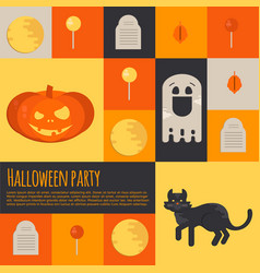 halloween icons and buttons set vector image vector image