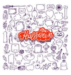 Halloween night doodles vector