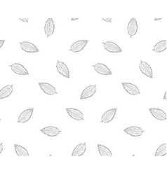 hand drawn leaves in doodle style -seamless vector image