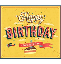 Happy birthday typographic design vector